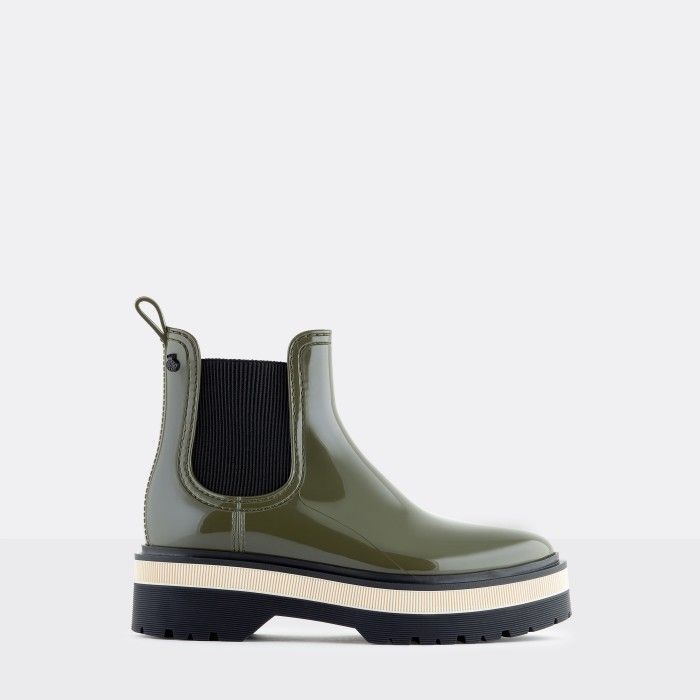 Lemon Jelly | Botas Cano Curto de Plataforma Verdes Vegan NETTY 04