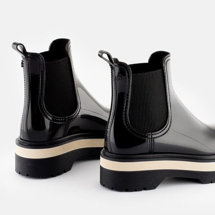 Lemon Jelly Women's Vegan Black Low Boots with Platform NETTY 01