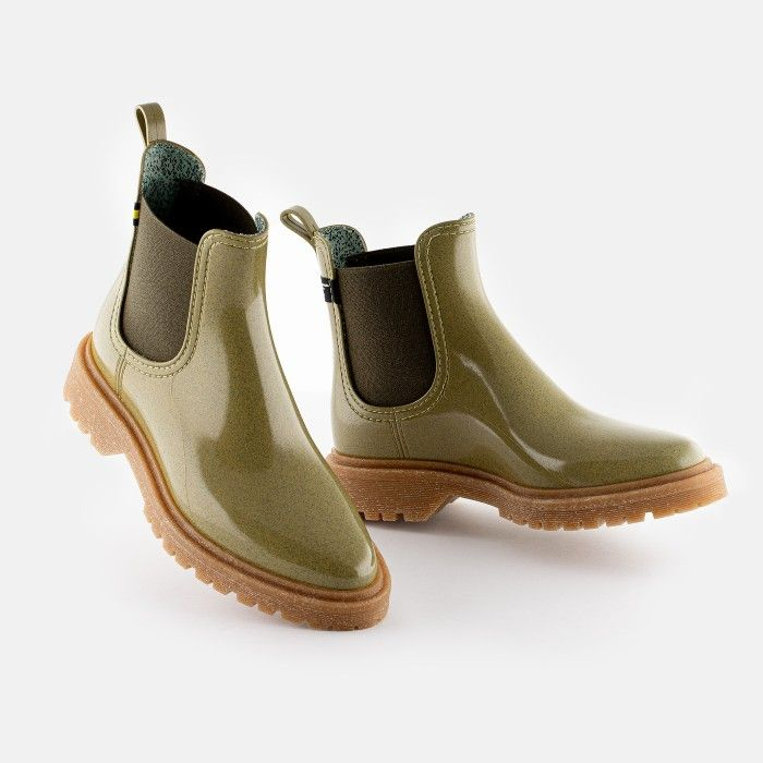 Lemon Jelly Women's Vegan Recycled Green Ankle Boots MAREN 06
