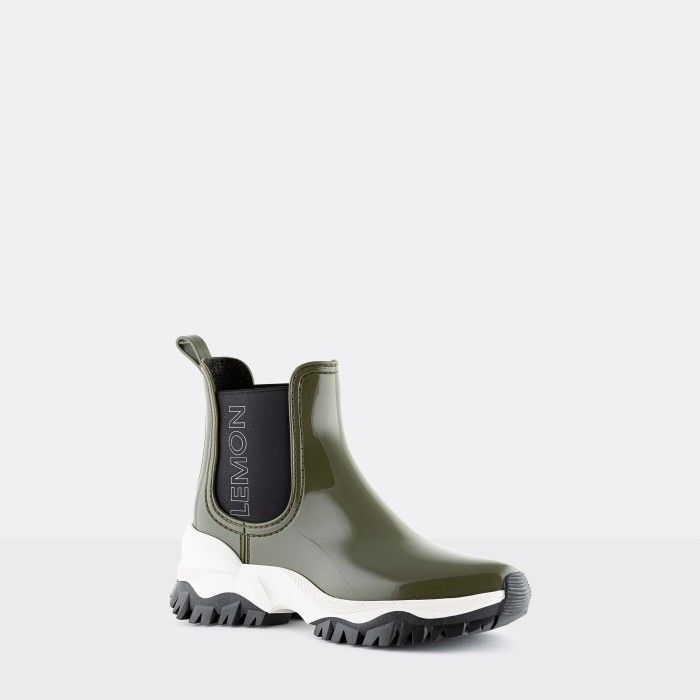 Lemon Jelly Women's Vegan Sporty Green Ankle Boots JAYDEN 13