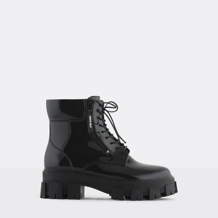 Lemon Jelly Women's Vegan Black Low Boots with Zip RAINA 01
