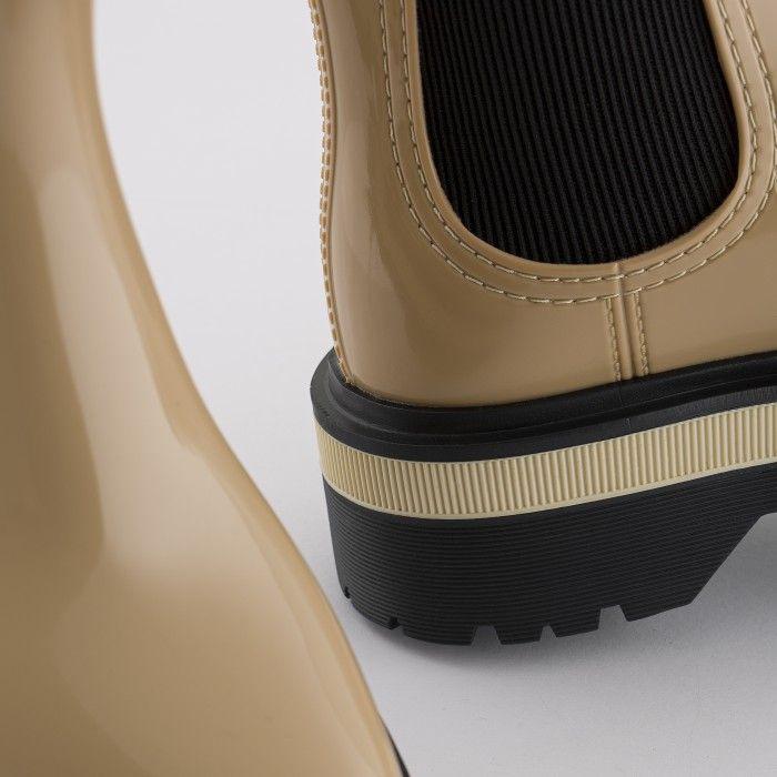 Lemon Jelly Women's Vegan Beige Low Boots with Platform NETTY 03