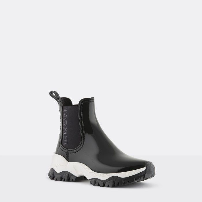 Lemon Jelly Women's Vegan Sporty Black Ankle Boots JAYDEN 10