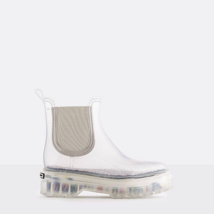 Lemon Jelly Vegan Transparent Low Boots with Platform  RAVYN 01