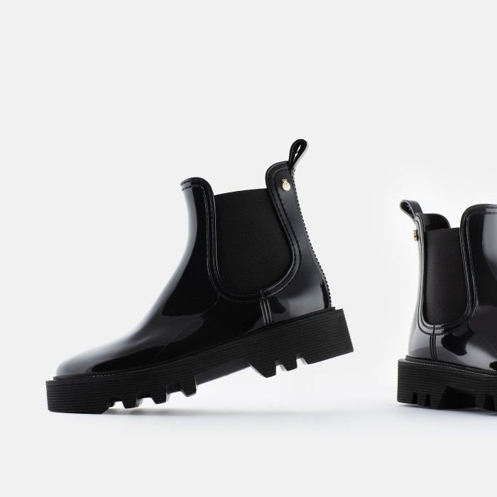 Lemon Jelly Super Light Jelly Black Boots for Woman ROXIE 01