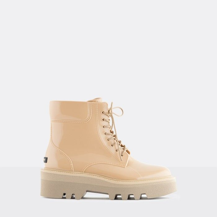 Lemon Jelly Super Light Jelly Beige Boots with Laces SHARON 02