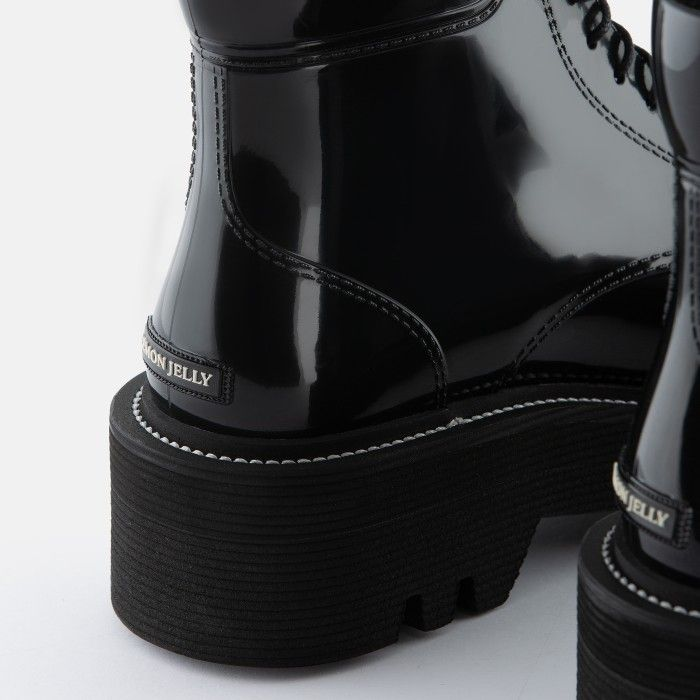 Lemon Jelly Super Light Jelly Black Boots with Laces SHARON 01