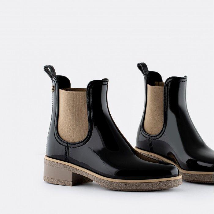 Lemon Jelly Low Heel Ankle Boots Black JOYCE 01 | Spring Summer