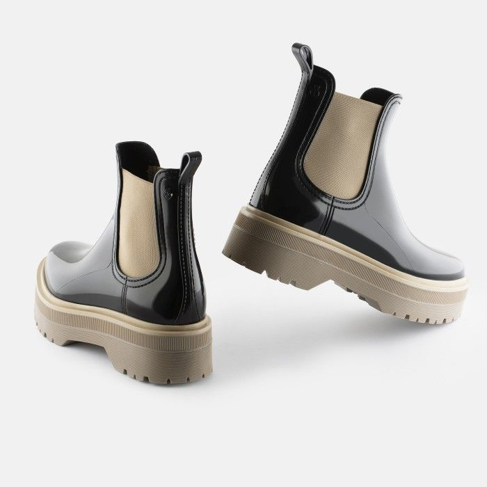 Lemon Jelly Platform Low Boots Black MAVIS 01 | Summer