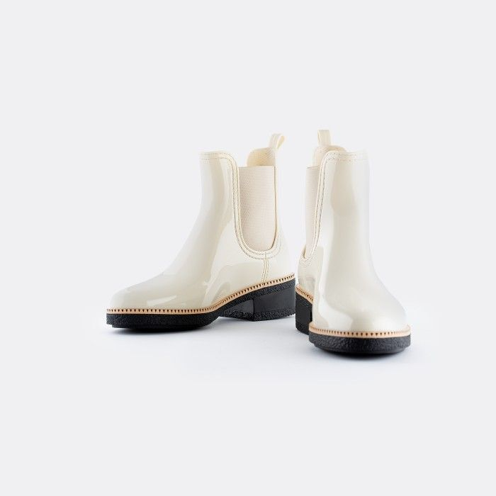 Lemon Jelly Low Heel Ankle Boots White AVA 17 | Spring Summer
