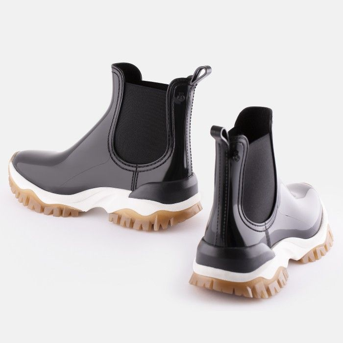 Lemon Jelly Low Boots with Sporty Sole Black CLARA 01 | Summer