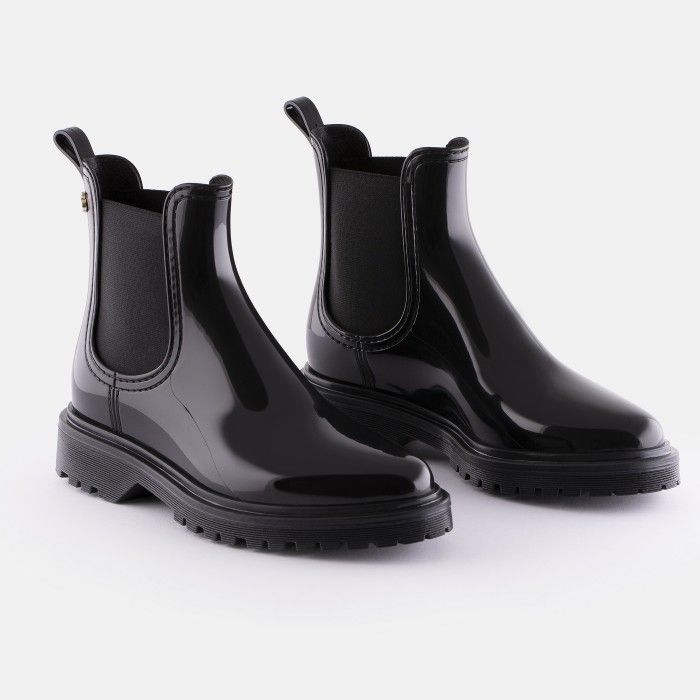 Lemon Jelly | Black Platform Rain Boots  Jelly Shoes BLOCK 05