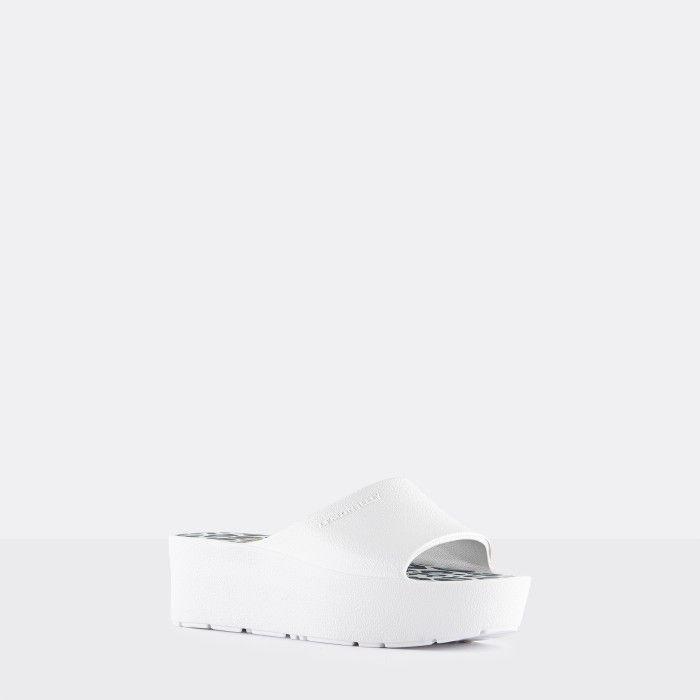 Lemon Jelly Platform Slides White ENYD 02 | Spring Summer 2021