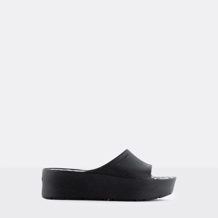 Lemon Jelly Platform Slides Black ENYD 01 | Spring Summer 2021
