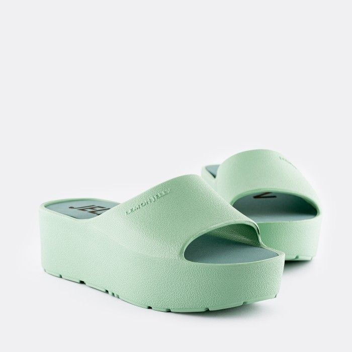 Lemon Jelly Platform Slides Green SUNNY 17 | Spring Summer 2021