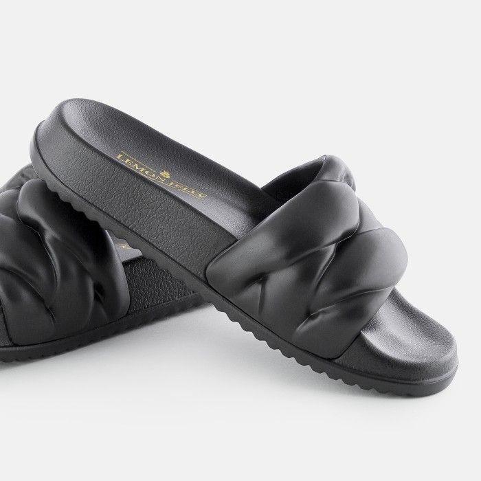 Lemon Jelly Slides Black COCOON 01 | Spring Summer 2021