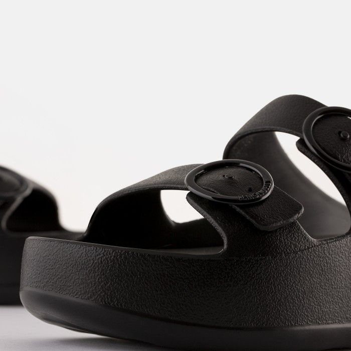 Lemon Jelly Platform Slides Black GAIA 01 | Spring Summer 2021