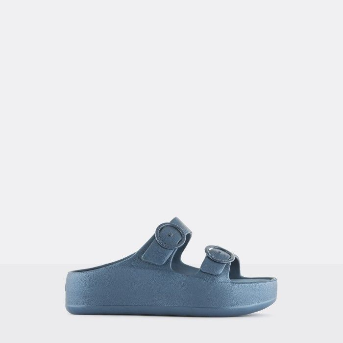 Lemon Jelly Platform Slides Blue GAIA 02 | Spring Summer 2021