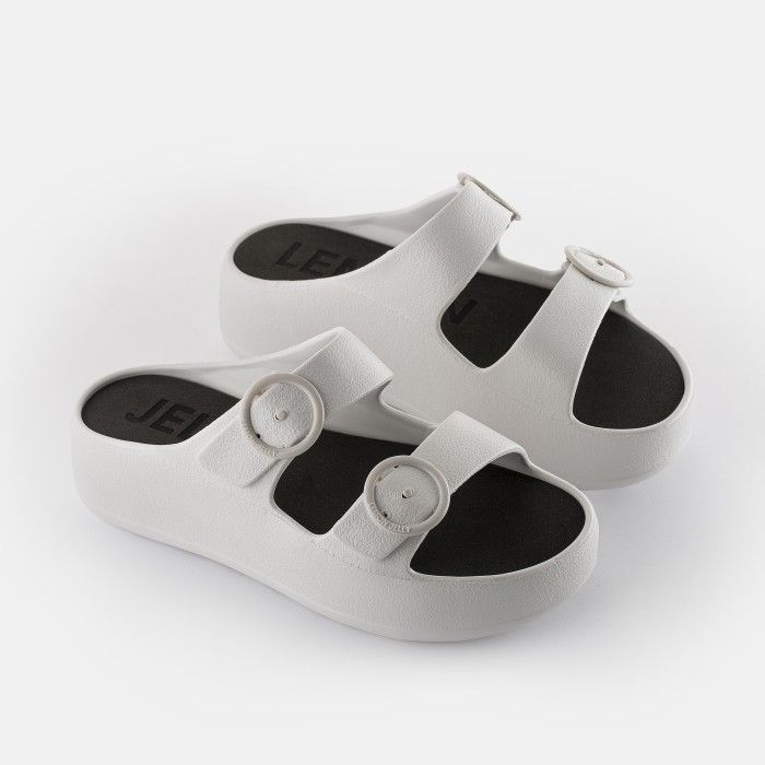 Lemon Jelly Platform Slides White GAIA 04 | Spring Summer 2021