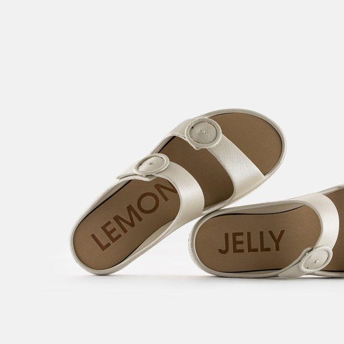 Lemon Jelly Platform Slides Gold GAIA 06 | Spring Summer 2021