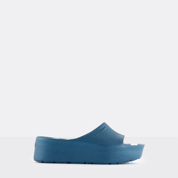 Lemon Jelly Platform Slides Blue TEELA 02 | Spring Summer 2021