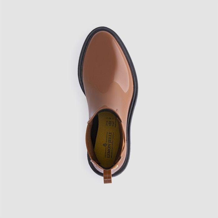 Lemon Jelly Women's Vegan Brown Ankle Boots BLOCK 21