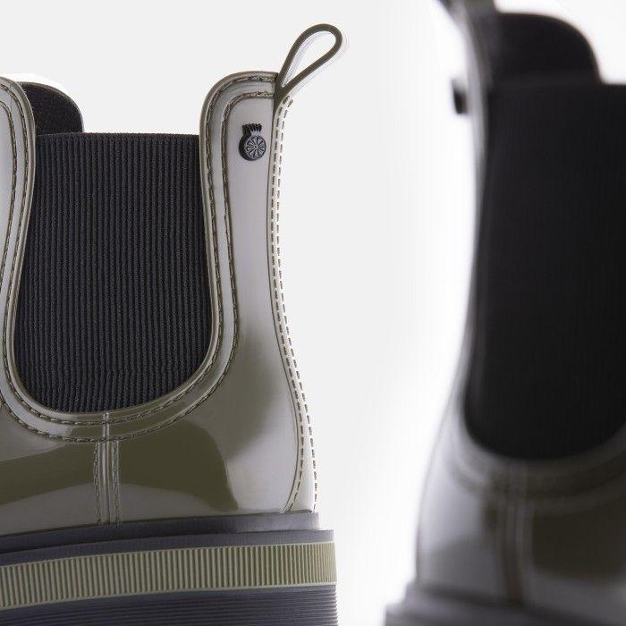 Lemon Jelly Women's Vegan Green Low Boots with Platform NETTY 06