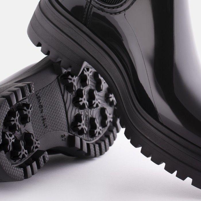 Lemon Jelly Super Light Black Rain Boots for Woman WALKER 01