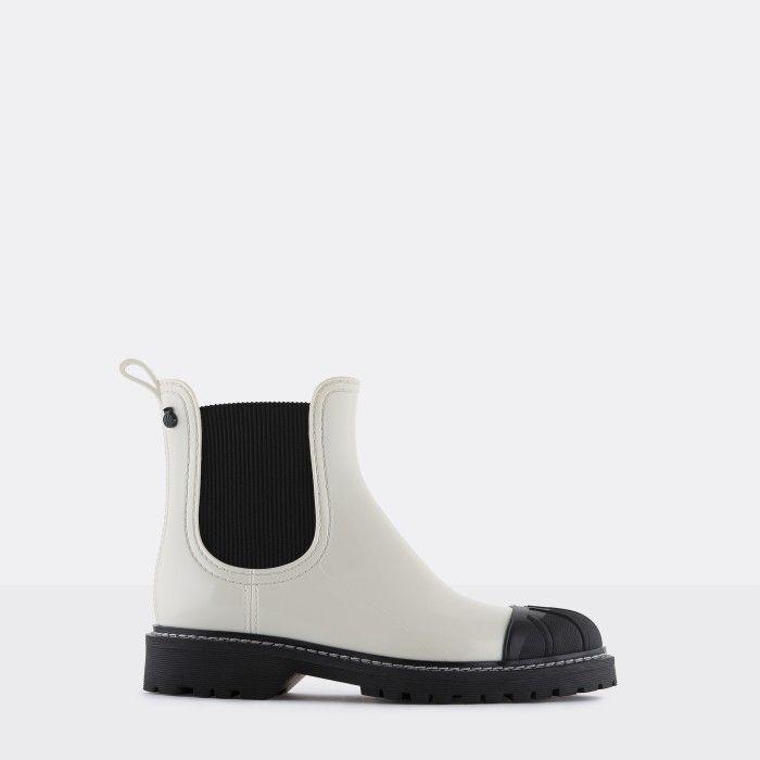 Lemon Jelly Women's Vegan White Ankle Boots with Toecap ASTRID 02