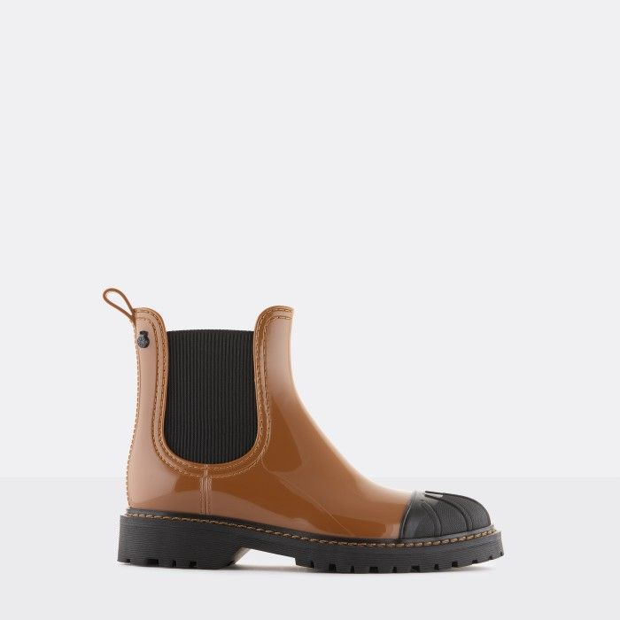 Lemon Jelly Women's Vegan Brown Ankle Boots with Toecap ASTRID 03