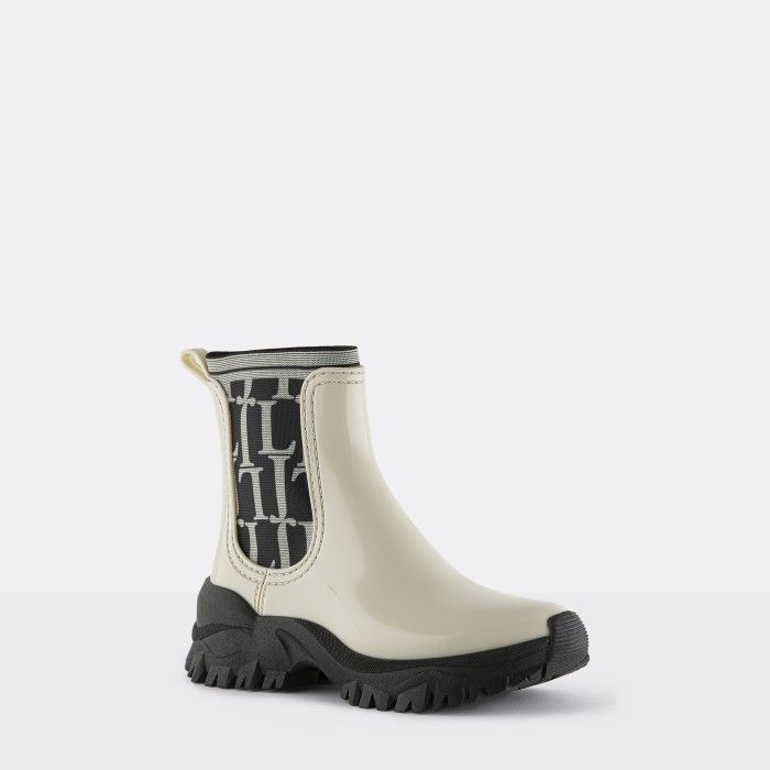 Lemon Jelly Sporty White Ankle Boot w/ Pattern Elastic ELLIOT 03