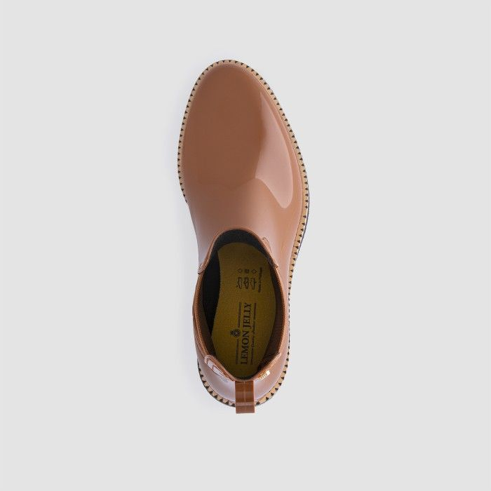 Lemon Jelly Vegan Brown Ankle Boots with Low Heel AVA 18