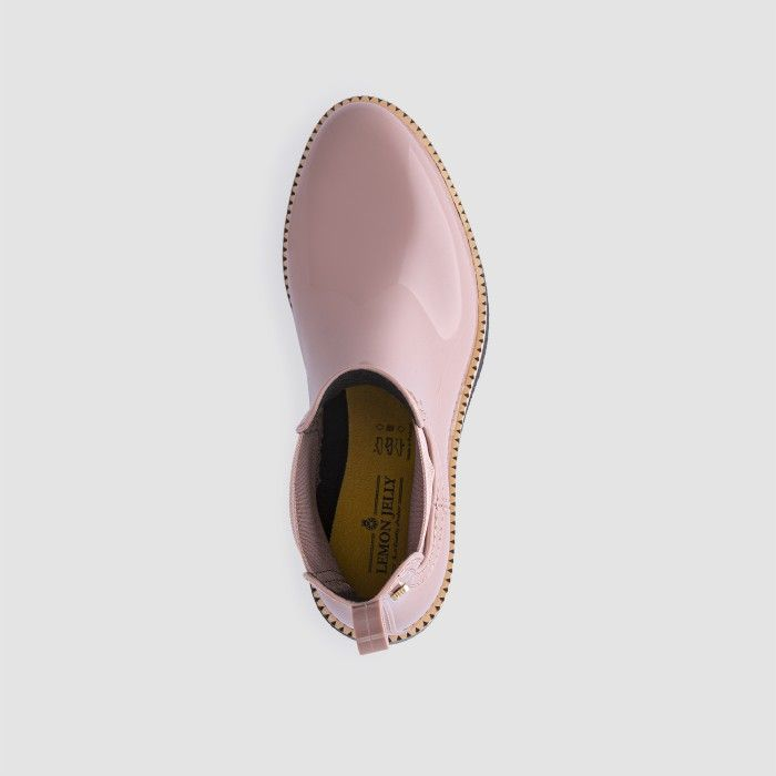 Lemon Jelly Vegan Pink Ankle Boots with Low Heel AVA 19
