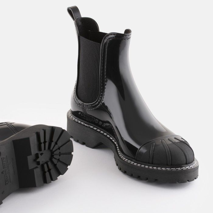 Lemon Jelly Women's Vegan Black Ankle Boots with Toecap ASTRID 01
