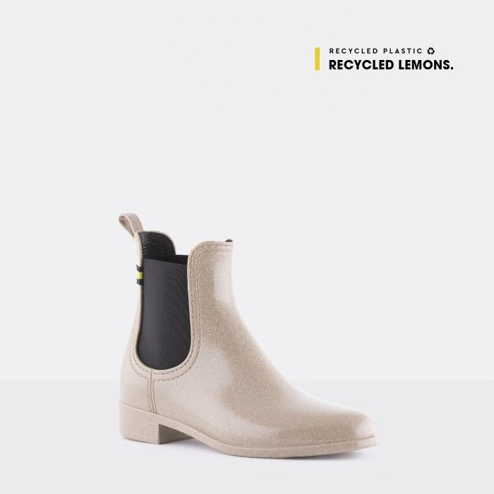 Lemon Jelly Vegan Recycled Grey Ankle Boots BRISA 12