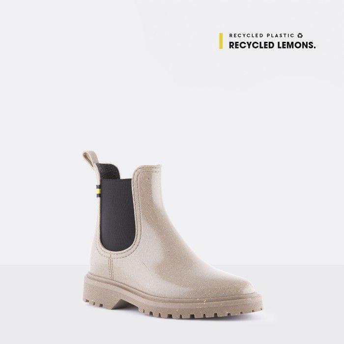 Lemon Jelly Women's Vegan Recycled Grey Ankle Boots MAREN 12