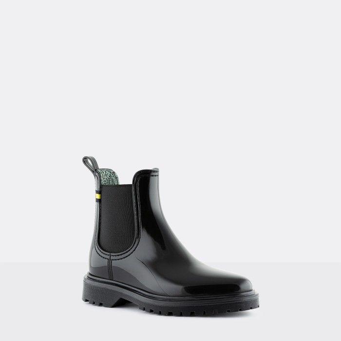 Lemon Jelly Women's Vegan Recycled Black Ankle Boots MAREN 08