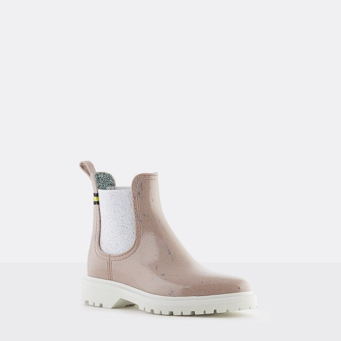 Lemon Jelly   Pink Recycled Boots w/ Male Sole   Women   MAREN 05