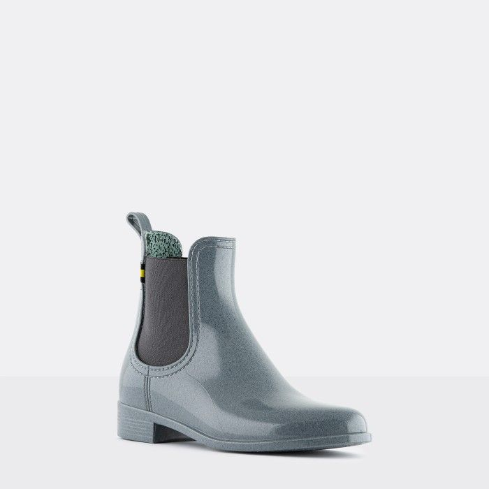 Lemon Jelly Vegan Recycled Grey Ankle Boots BRISA 06