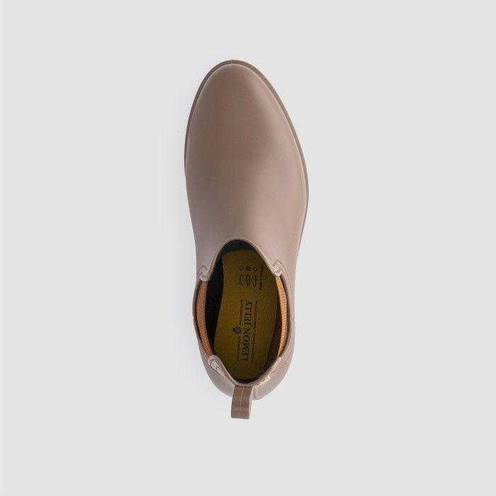 Lemon Jelly Woman | Vegan Brown Rain Ankle Boots SPLASH 23