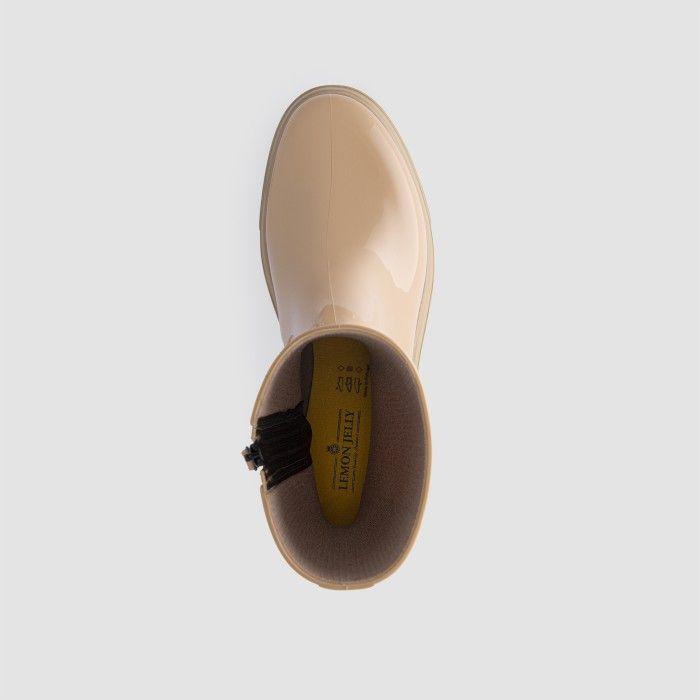 Lemon Jelly Super Light Beige Mid Calf Boots EXPLORER 04