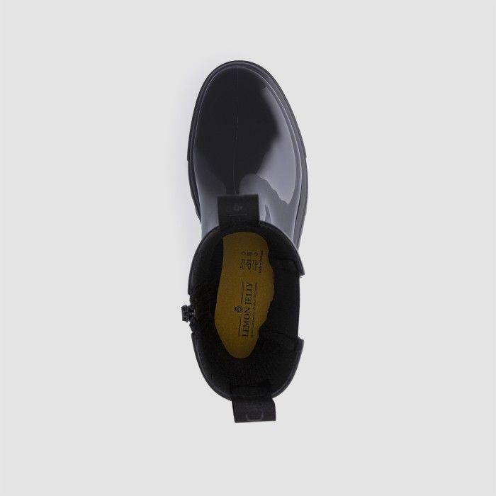 Lemon Jelly Super Light Black Mid Calf Boots for Woman CITY 01