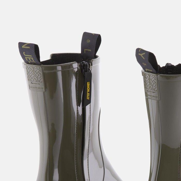 Lemon Jelly Super Light Green Mid Calf Boots for Woman CITY 03