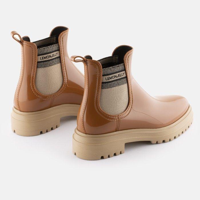 Lemon Jelly Super Light Brown Rain Boots for Woman FLOW 03