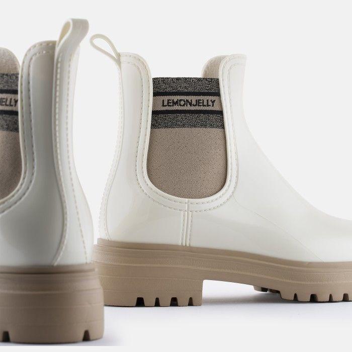 Lemon Jelly Super Light White Rain Boots for Woman FLOW 04