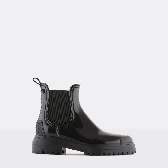 Lemon Jelly Super Light Black Rain Boots w/ Toecap STROLLER 01