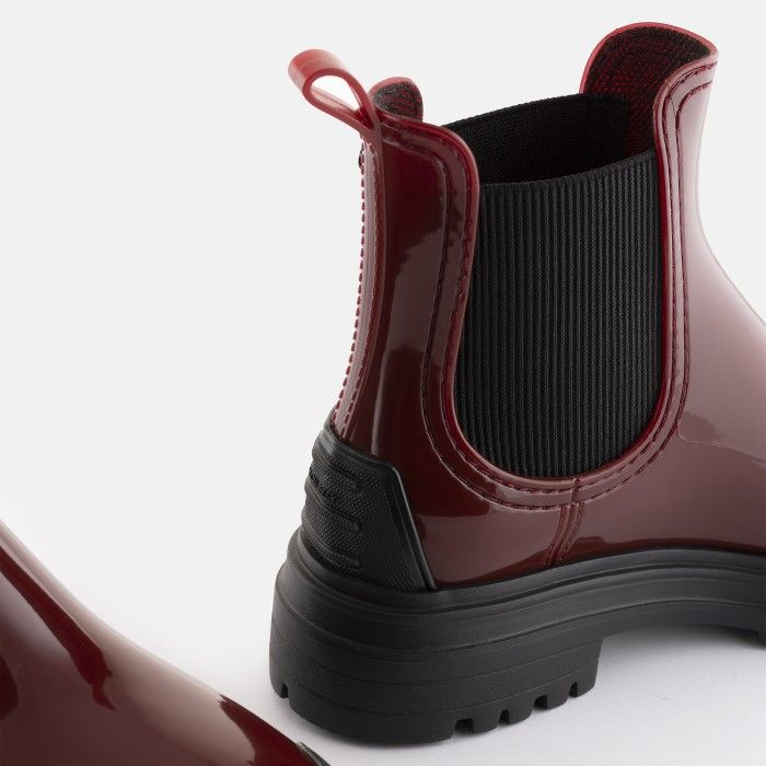 Lemon Jelly Super Light Bordeaux Rain Boots w/ Toecap STROLLER 03